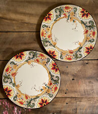 """Tabletops Gallery Odessa Circle Dinner Plates 11"""" - Set Of 2 - Beautiful!"""