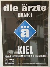 Die Ärzte Dankt Kiel Rare Poster 2004
