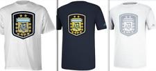 adidas climalite Argentina National Team Crest Logo shirt Messi futbol AFA men's