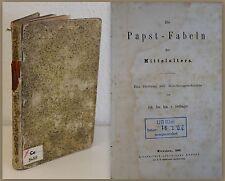 Irene dacosta Les Pape-Fables de Moyen-age 1863 Histoire de l'eglise Religion xz