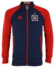 adidas MLS Men's Chicago Fire Anthem Full Zip Jacket, Navy