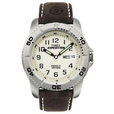 Timex T46681 Mens White Brown Expedition Traditional Watch RRP £59.99