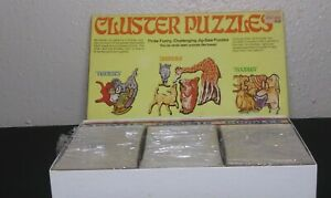 LOT ~ Vintage CADACO Cluster Puzzle FIGMENTS w/ Hint Cards ~ No. 1, 2 & 3