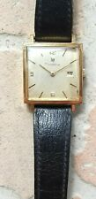 Rare LIP Dauphine square R558 goldfilled vintage watch mecanic France repair NR