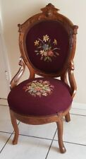 Antique Victorian Walnut Parlor Chair