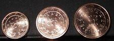 1 cent + 2 cent + 5 cent PORTUGAL 2012