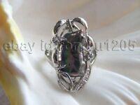 Genuine Natural Black Freshwater Biwa Pearl Rings!