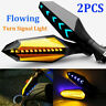 2 X Motorcycle LED Turn Signal Lamp Sequential Flowing Indicator Lights Amber