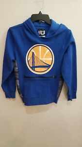 Golden State Warriors Hooded Sweatshirt Hoodie Size Youth 10/12 NBA Cotton/Poly