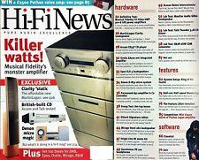 HI-FI NEWS DENON D-M31 TALK THUNDER 3.1B CD EPOS ELS3 MIRAGE OMNI 260 MF TRI-VIS