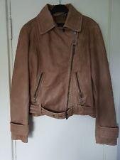 Borsani Light Tan Soft Leather Biker Jacket - Medium - Preowned but Unworn
