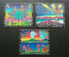 United Nation Earth Summit 1992 Sun Mountain Rainbow Island Space (stamp) MNH