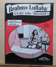 Brahms Lullaby (Cradle Song - Wiegenlied) - 1935 sheet music - by Brahms