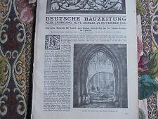 1915 ...Bauzeitung 94r / Lübeck ST Annenkloster Teil 3