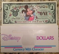 DISNEY 2000 ONE DOLLAR MILLENNIUM EPCOT CENTER A SERIES W/ENVELOPE US SELLER NEW