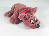 Pound Puppy - Rumple Skins - Small, brown with red collar - Tonka