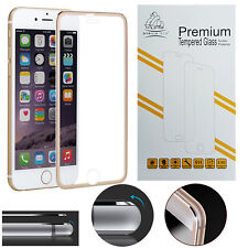 Metal Edge iPhone 7 Gold Gorilla Protecteur d'écran en Verre Trempé LCD GUARD FILM