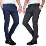 Pantalone Uomo Chino Slim Fit Elegante Quadri Principe di Galles Invernale