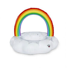 New Bigmouth Inc. Giant Rainbow Cloud Pool Float filled with Sparkles