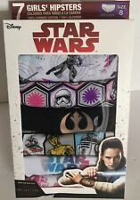 Disney Star Wars Girls Hipsters Size 8 Package of 7