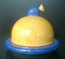 Laure Japy Mocheté Butterglocke Ananas rund klein, Limoges Porzellan, handbemalt