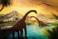 A1 | Prehistoric Dinosaurs Poster Art Print 60 x 90cm 180gsm Boys Fun Gift #8529