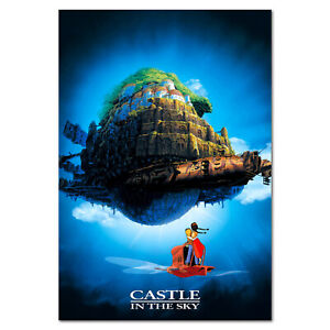 Castle in the Sky Poster - Studio Ghibli Anime Poster - High Quality Prints