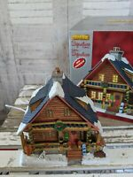 Lemax Parker's cabin House village Xmas holiday decor dog cabin