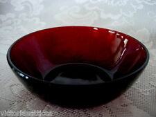 Vintage ANCHOR HOCKING ROYAL RUBY Red Glass Berry Bowl - MORE AVAILABLE