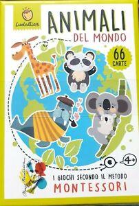 Carte Montessori. Animali del mondo - Giochi di carte Ludattica