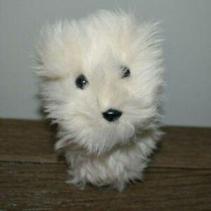 "American Girl WHITE DOG  coconut Plush Stuffed Animal 7 x 5"""