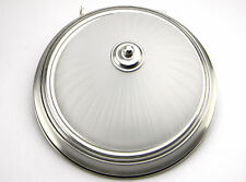 Commercial Electric LED Brushed Nickel Light Fixture Ceiling Flushmount HQV8011L