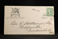 Maryland: Baltimore 1888 Calumet Club Democratic Convention Advertising Cover