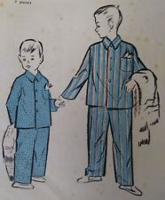 Vintage 1950s Maudella Boy's Pyjamas Sewing Pattern #3163 Age 5-6yrs Uncut