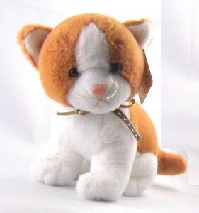 Althans Katze aus Plüsch braun-weiss ca. 16 cm