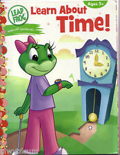 Leap Frog Wipe-Off Learn About Time Workbook- Ages 5+-Use over and over