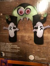 Haunted Living 8.8' Halloween Airblown Inflatable Monster Archway vampire ghost