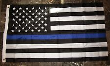 (Wholesale Lot 10) 3x5 Embroidered Sewn Thin Blue Line USA American Police Flag