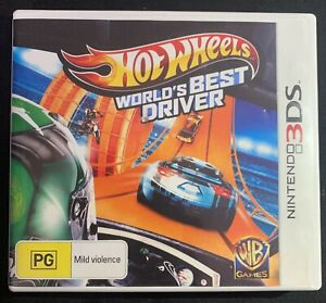 Nintendo 3DS Hot Wheels World's Best Driver Tested & Working Racing + FREE POST