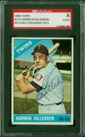 SGC Authentic Original Autograph of Harmon Killebrew HOF, Twins on a 1966 Topps