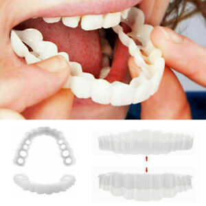 1 Set TOP & BOTTOM Teeth Veneers Cover Instant Cosmetic Fix Cap Smile Perfect US