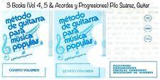 (3 Libros) Métodos de Guitarra,Música Popular (Vol.4, 5 y Acordes) Pilo Suárez