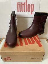 Fitflop KNOT Leather Ankle Boots Size UK 8 EU 42 NEW