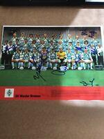SV Werder Bremen 1991/92 Kicker Mannschaftsfoto signiert