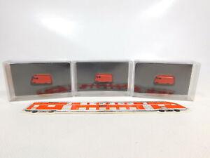 CD262-0, 5 #3x MZZ N Gauge / 1:160 F111g Sw Fire / Fw Mercedes L 319, Mint +Box