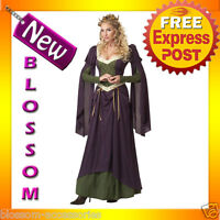 C639 Lady In Waiting Renaissance Medieval Fancy Dress Halloween Costume