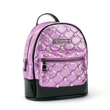 Authentic Rock Rebel Unicorn Studded Quilted Mini Backpack Pink Glitter NEW