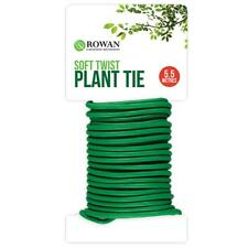 NEW 5.5M GARDEN SOFT TWIST PLANT TWINE TIE GREEN FLEXIBLE BENDY WIRE CABLE