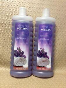 Avon Senses LAVANDER GARDEN Bubble Bath 24 oz.  Lots of 2