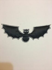 "Black Bat Patch Halloween Night Sew On 6"" X 2"""